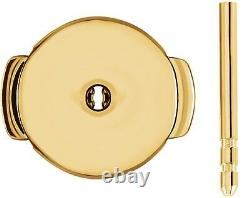 14kt 18kt Gold Platinum Silver Protektor System Earring Lock Back Post Set Pair