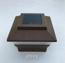 1/2/4/6/8/10/12-Pc Soar Dark Brown Texture Cap LED Light For 4x4 Wood&PVC Post