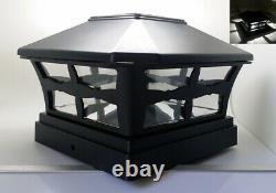 1/2/4/6/8/10/12-Pc Solar Black Cap SMD LED Light For 4 / 5 / 6 Wood&PCV Post