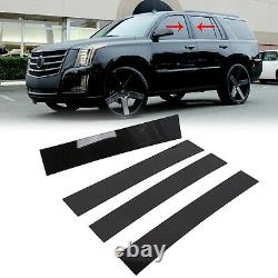 4X Glossy Black Pillar Post for Cadillac Escalade 2007-2014 Door Trim Cover Kit