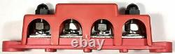 4 Post Busbar Bus Bar Power Distribution 12V 250A 5/16 Red and Black Pair Set