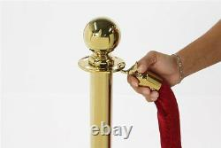 4 X Brass Queue Barrier Posts Crowd Control Security Stanchions Divider Set Gold
