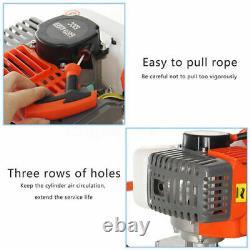 52CC Gas Post Earth Hole Auger Digger Borer / Auger Drill Bit 10 2-Stroke Set