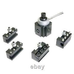 5 Pc Steel Mini Quick Change Tool Post & Holder Set For 7 Lathes (3900-5349)