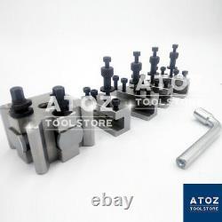 5 Pieces Set T37 Quick Change Toolpost Lathe Premium Quality Tool post ATOZ