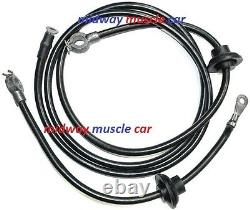 68 69 Chevy Corvette C3 original Correct BATTERY CABLE Set top post spring ring