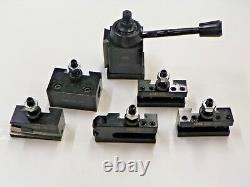 6 pc AXA QUICK CHANGE WEDGE TOOL POST SET 250-111 SERIES 6 TO 12 SWING XS004