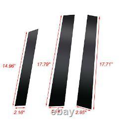 6pcs Black Window Pillar Posts Door Trim Piano Cover Set For Honda CRV 2007-2011