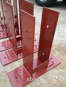 8x8 Pole Barn surface mounting dry set post anchor Wood to Concrete Mount