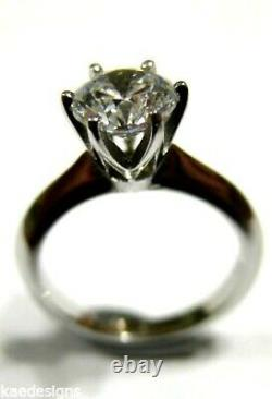 9ct 375 Solid White Gold Claw Set Engagement Ring Size J Free express post