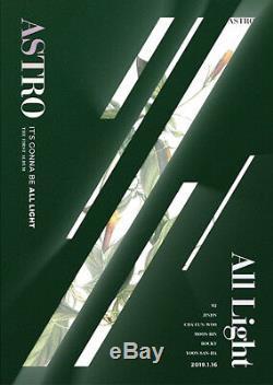 ASTRO ALL LIGHT 1st Album GREEN CD+POSTER+PBook+Post Card Set+Sticker+etc