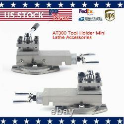 AT300 Lathe Tool Post Mini Lathe Accessories Metal Change Set Bracket 16mm USA