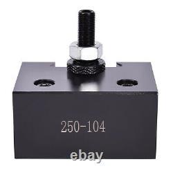 AXA Size 250-111 Set Wedge Type Quick Change Tool Post Set for 6-12 Lathe USA