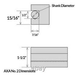 AXA Wedge Tool Post Set for 12 Lathe Swing with Holder Numbers 1-2-4-7-10
