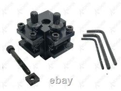 Anchor 3PC T34 Quick Change Tool Post Set for Unimat Lathe 3 & 4 +2 Holders