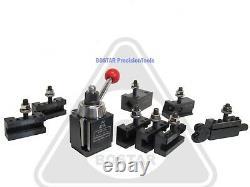 BOSTAR AXA 250-111 Wedge Type Tool Post, Tool Holder Set for Lathe 6 -12, 10PC