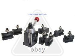 BOSTAR BXA 250-222 Wedge Type Tool Post Set Lathe10-15 W. 2 Extra Tool Holders