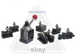 BOSTAR BXA 250-222 Wedge Type Tool Post, Tool Holder Set for Lathe10 15, 9PC
