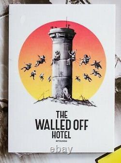 Banksy Walled Off Hotel Postcard-Set neu new