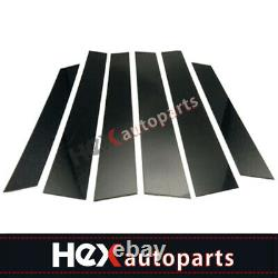 Black Pillar Posts Cover for Honda CRV 2007-2011 6pc Set Door Trim Cover Window
