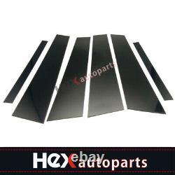 Black Pillar Posts for BMW 3-Series 2006-11 E90 6pcs Set Door Trim Cover Window