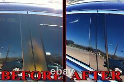 Black Pillar Posts for Chrysler 300C & Dodge Magnum 05-10 6pc Set Door Trim