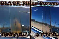 Black Pillar Posts for Dodge Charger 11-20 6pc Set Door Cover Trim Piano Kit