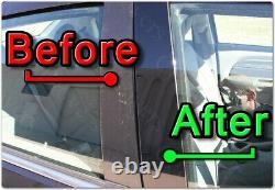 Black Pillar Posts for Toyota 4Runner 10-20 6pc Set Door Cover Trim Piano Kit