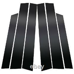 Black Window Pillar Posts Door Trim Piano Cover For Honda CRV 2007-2011 6pc Set