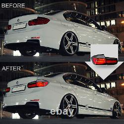 CLEAR LED Taillights Sequential Turn Sig for 12-18 BMW 3er 3 Series F30 F80
