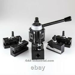 CXA Piston Tool Post Set CNC High Precision Quick Change Lathe Holders 300Series