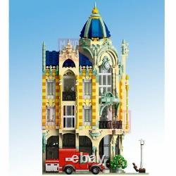 City Creator MOC Sets Corner Post Office with LED Model Building Blocks Toy Kids