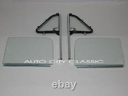 Clear Glass 1951 1954 Chevy GMC Pickup Vent in Post Door in Channel 4pc Set