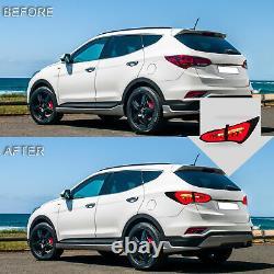 Custom SMOKE Fiber Optic LED Taillights for 2013-2018 Hyundai Santa Fe Sport