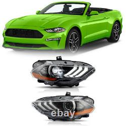 Customized FULL LED Headlights Direct Replacement for 2018-2021 Ford Mustang Set