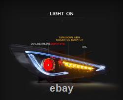 Customized LED Demon Head lights with DRL for Hyundai Sonata 2011-2015 Hybrid