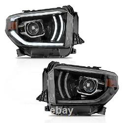 Customized LED Headlights withDRL Sequential Turn Signal for 2014-2020 Tundra