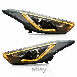 Customized LED Headlights with DRL Dual Beam for Elantra 2013-2014 Coupe