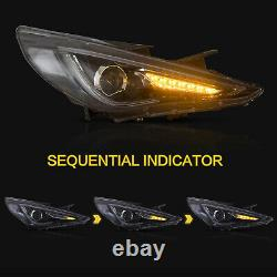 Customized LED Headlights with DRL for Hyundai Sonata 2011-2015 Hybrid