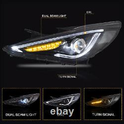 Customized LED Headlights with DRL for Sonata 11-14 GLS Limited SE 11-13 GL