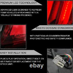 Customized RED FULL LED Taillight with Sequential for 15-20 Mustang Driver Side