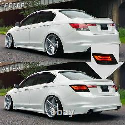 Customized Smoked Taillights with LED RUNNING LIGHT for 08-12 Honda Accord Sedan