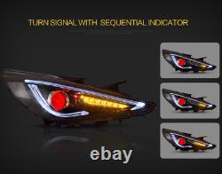Demon Head lights+SMOKED Tail lihgts for SONATA 11-14 GLS Limited SE 11-13 GL