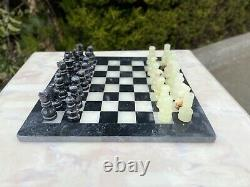 Express Post 12x12 Marble Chess Set Black & Jade Hand Made Superior Quality