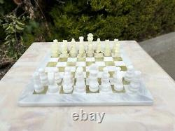 Express Post 12x12 Marble Chess Set Jade & White Hand Made Superior Quality