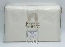 FRETTE At Home QUEEN Sheet Set Post Modern Cotton Sateen Portugal IVORY &CARAMEL