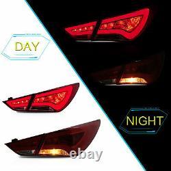 Fiber Optic RED LED Taillights for SONATA 11-14 GLS Limited SE 11-13 GL