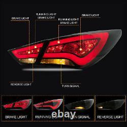 Fiber Optic SMOKE LED Taillights for SONATA 11-14 GLS Limited SE 11-13 GL