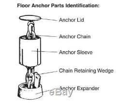 Floor Anchor Pots by Champ for Frame Machines and Pulling Posts Set of 12