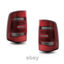For 09-18 Ram 1500 2500 3500 LED Tail Lights Red Clear Lens Fit Halogen LED Lamp